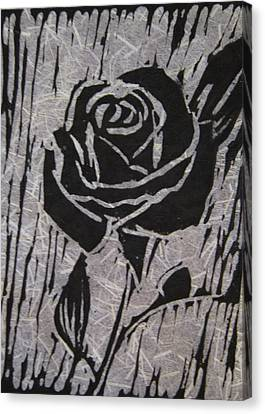 The Black Rose Canvas Print by Marita McVeigh