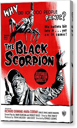 The Black Scorpion, Bottom Richard Canvas Print by Everett