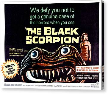 The Black Scorpion, On Right Mara Canvas Print by Everett