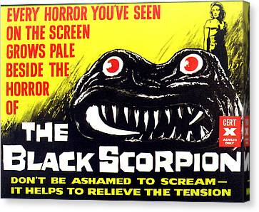 The Black Scorpion, Top Right Mara Canvas Print by Everett
