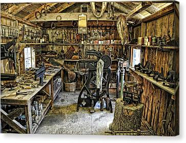The Blacksmith's Shop Canvas Print by Jan Amiss Photography