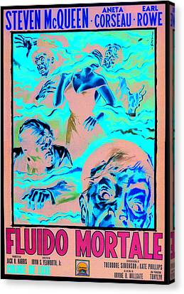 The Blob, Italian Poster Art, 1958 Canvas Print by Everett