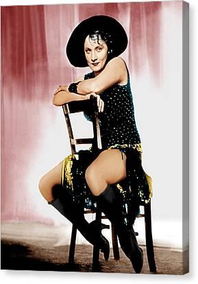The Blue Angel, Marlene Dietrich, 1930 Canvas Print by Everett