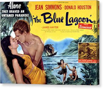 The Blue Lagoon, Jean Simmons, Donald Canvas Print by Everett