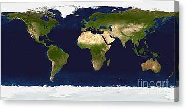 The Blue Marble Land Surface, Ocean Canvas Print