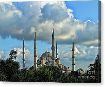 The Blue Mosque Sultanahmet Camii  Canvas Print by Alexandra Jordankova