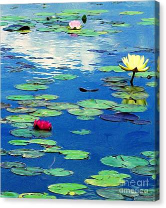 The Blue Pond  Canvas Print