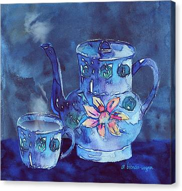 The Blue Teapot Canvas Print by Arline Wagner