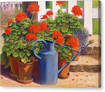 The Blue Watering Can Canvas Print