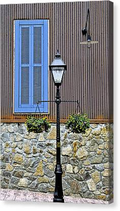 Lamp Post Canvas Print - The Blue Window by James Steele
