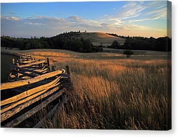 The Bluffs At Doughton Park Blue Ridge Parkway Canvas Print by John Harmon