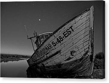 The Boat Canvas Print by Armando Carlos Ferreira Palhau