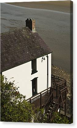 The Boathouse At Laugharne Canvas Print by Steve Purnell