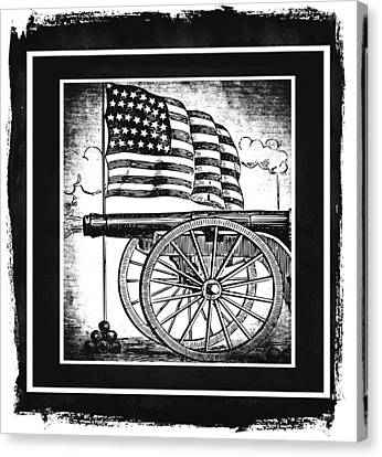 The Bombs Bursting In Air Bw Canvas Print by Angelina Vick
