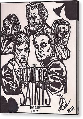 The Boonbock Saints Movie Poster Canvas Print by Jeremiah Colley