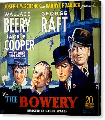 The Bowery, Fay Wray, Jackie Cooper Canvas Print by Everett