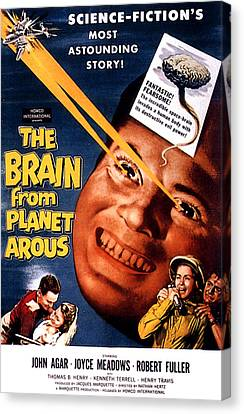 The Brain From Planet Arous, Center Canvas Print by Everett