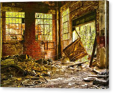 Canvas Print featuring the photograph The Brick Room by Kimberleigh Ladd