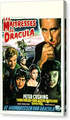 The Brides Of Dracula, Aka Les Canvas Print by Everett