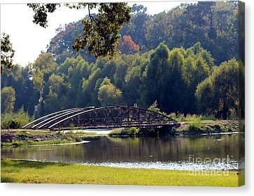 Canvas Print featuring the photograph The Bridge by Kathy  White