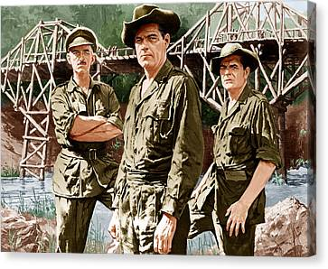 The Bridge On The River Kwai, From Left Canvas Print by Everett