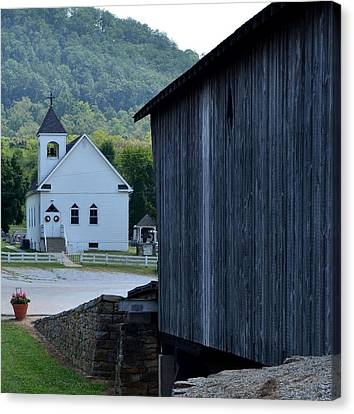 The Bridge To Salvation Is Covered Canvas Print