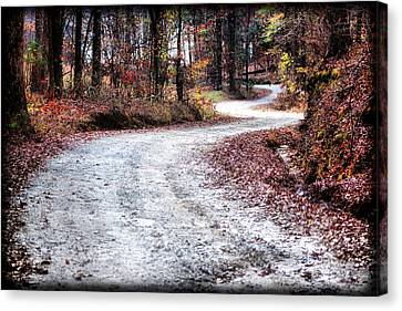 The Broken Road Canvas Print by Lynne Jenkins