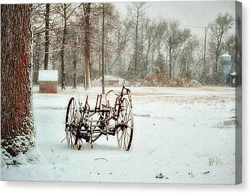 The Broken Wheel Canvas Print by Kelly Reber
