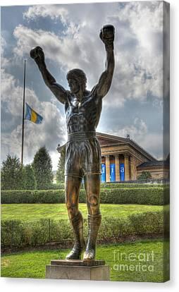 The Bronze Stallion - Rocky Balboa - Philadelphia - Pennsylvania - Rocky Steps Canvas Print by Lee Dos Santos
