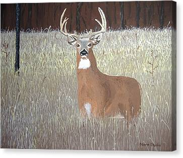 Canvas Print featuring the painting The Buck Stops Here by Norm Starks