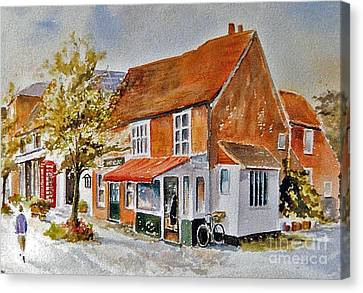 Canvas Print featuring the painting The Butcher Shop Lenham by Beatrice Cloake