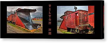 The Caboose Canvas Print by Joann Vitali