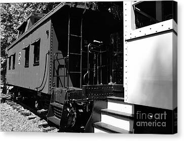 The Caboose Canvas Print by Thomas R Fletcher