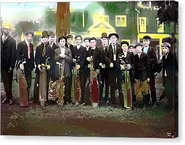 The Caddies Canvas Print by Charles Shoup