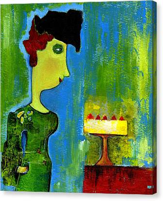 The Cake Canvas Print by Agnes Trachet