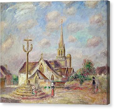 The Calvary At Pont Aven Canvas Print by Pierre Auguste Renoir