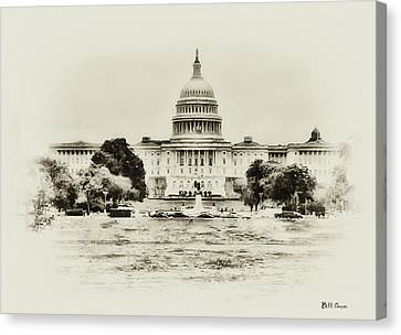 The Capital Bulding Canvas Print by Bill Cannon