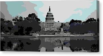 the Capitol  Canvas Print by George Pedro