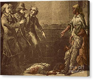 Antislavery Canvas Print - The Capture Of Margaret Garner by Photo Researchers
