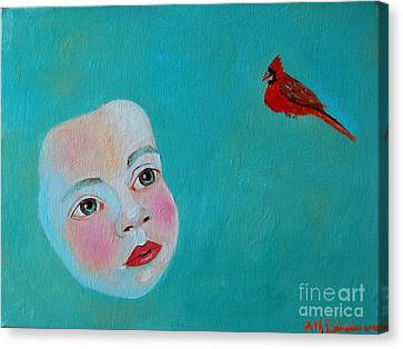 The Cardinal's Song Canvas Print by Ana Maria Edulescu