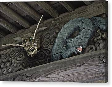 The Carved Shrine Dragon Canvas Print by Tim Ernst