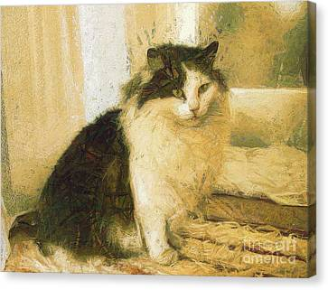 The Cat Canvas Print by Odon Czintos