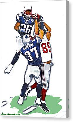 The Catch David  Tyree Canvas Print by Jack K