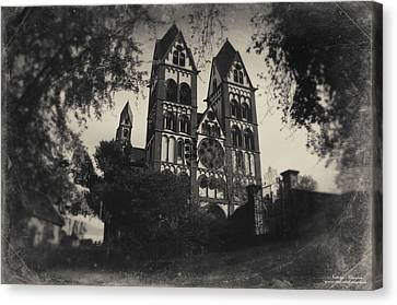 Cathedral Limburg Canvas Print - The Catholic Cathedral Of Limburg by Natalia Kempin