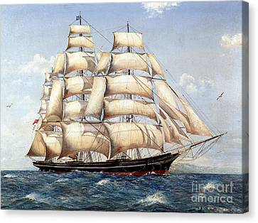 The Catty Sark In  Her Glory  Canvas Print
