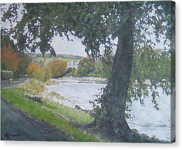 Canvas Print featuring the painting The Cauld Peebles by Richard James Digance