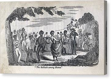 The Celebration Of The Sabbath Among Canvas Print by Everett