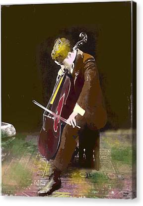 The Cello Player Canvas Print
