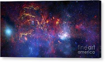 The Central Region Of The Milky Way Canvas Print by Stocktrek Images