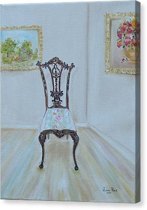 Canvas Print featuring the painting The Chair by Judith Rhue